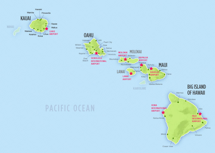 Airports on each island, click to enlarge