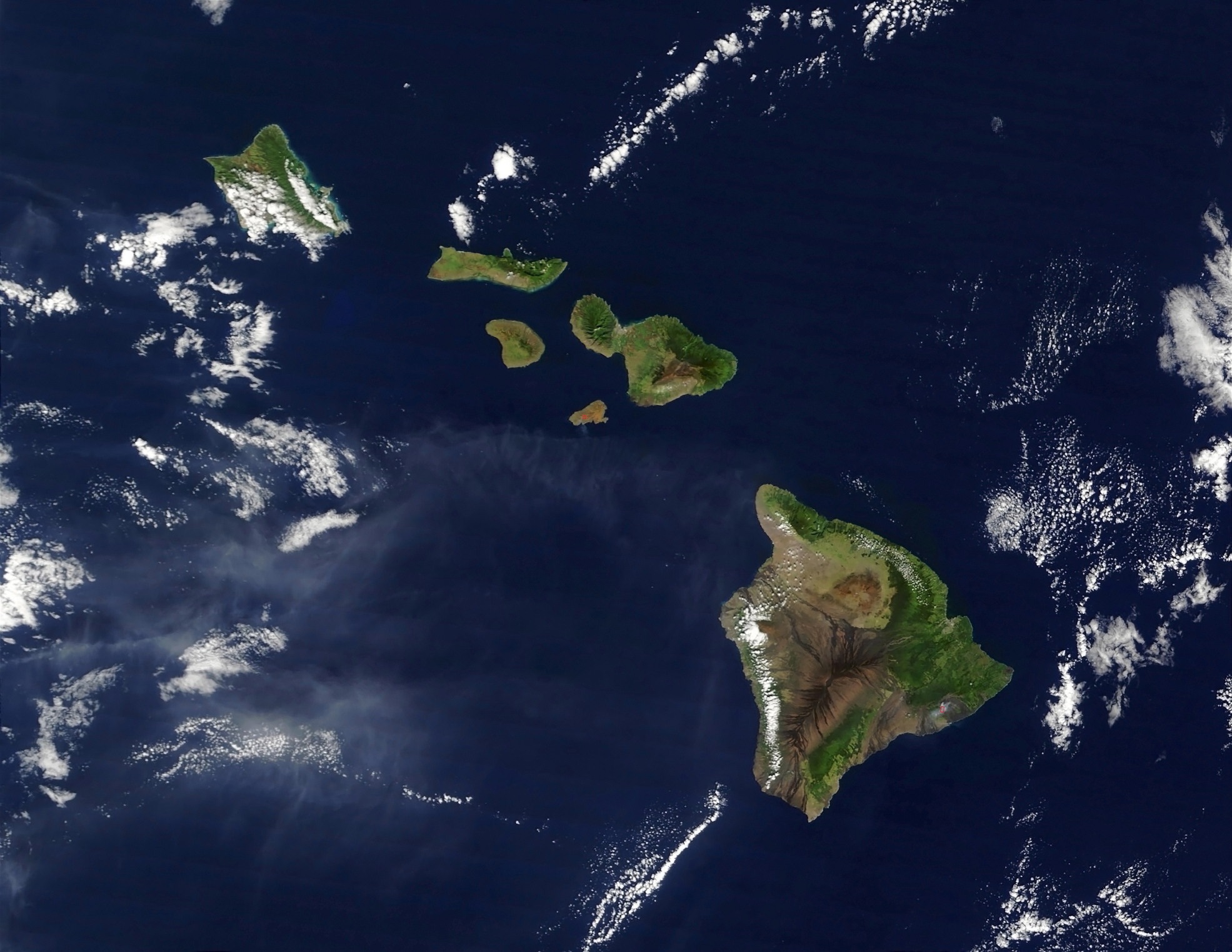 Map of the Hawaiian Islands