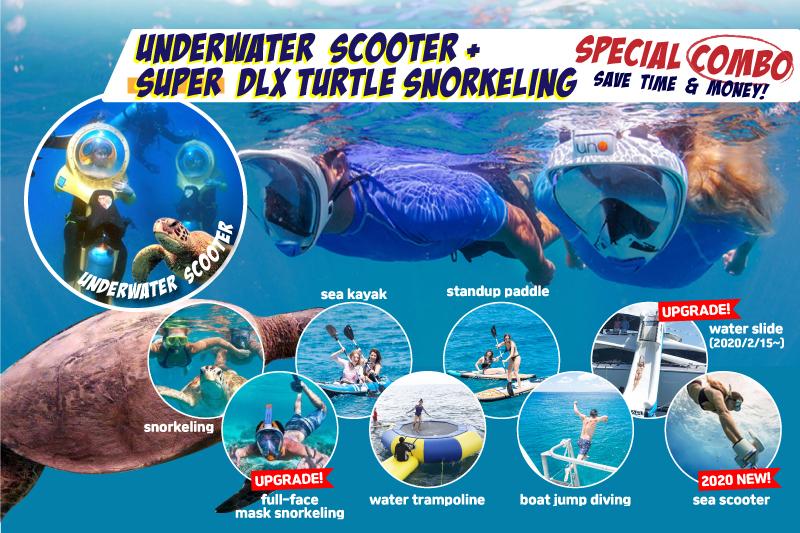 Super Deluxe Turtle Snorkeling & Underwater Scooter