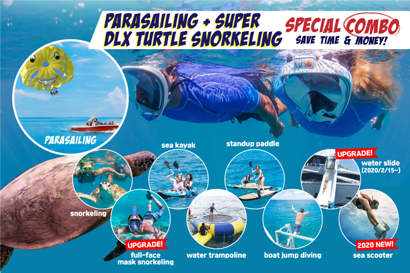 Parasailing & Super Deluxe Turtle Snorkeling