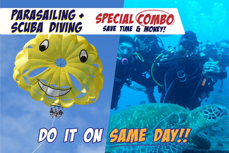 Parasailing & One-Tank Scuba Diving