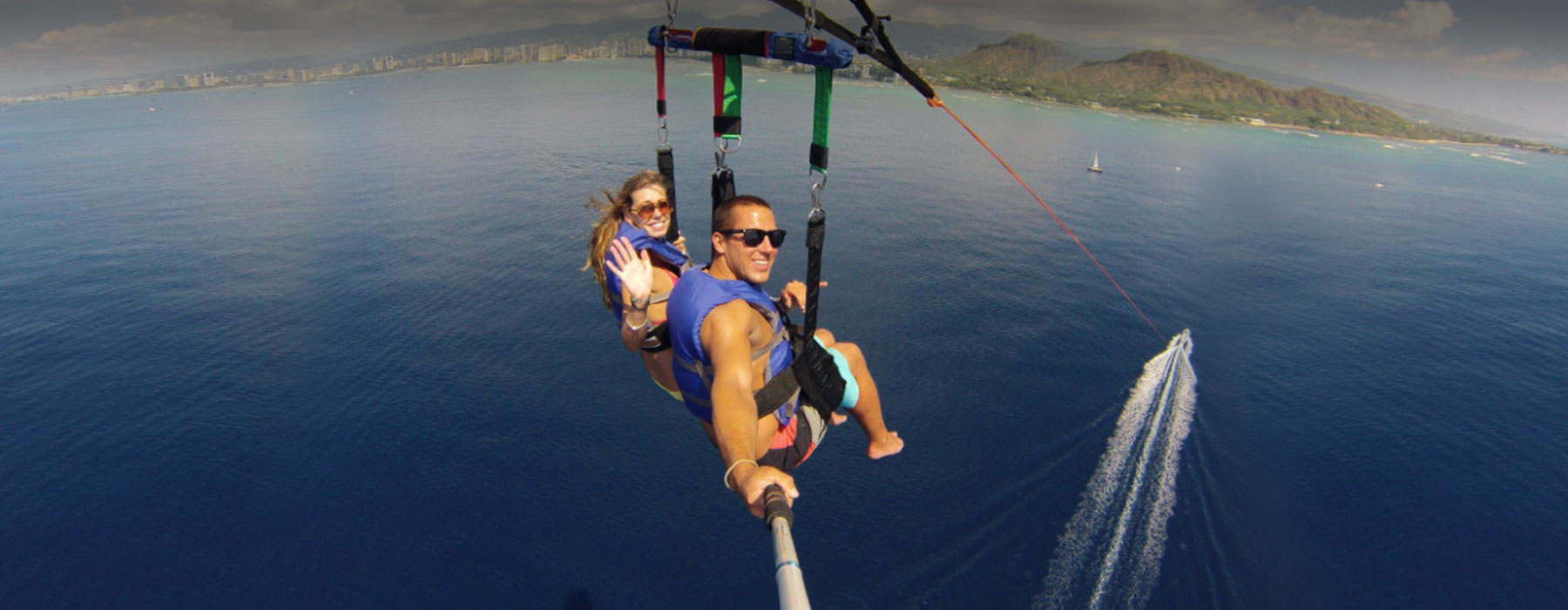 Soar above Honolulu's coastline!
