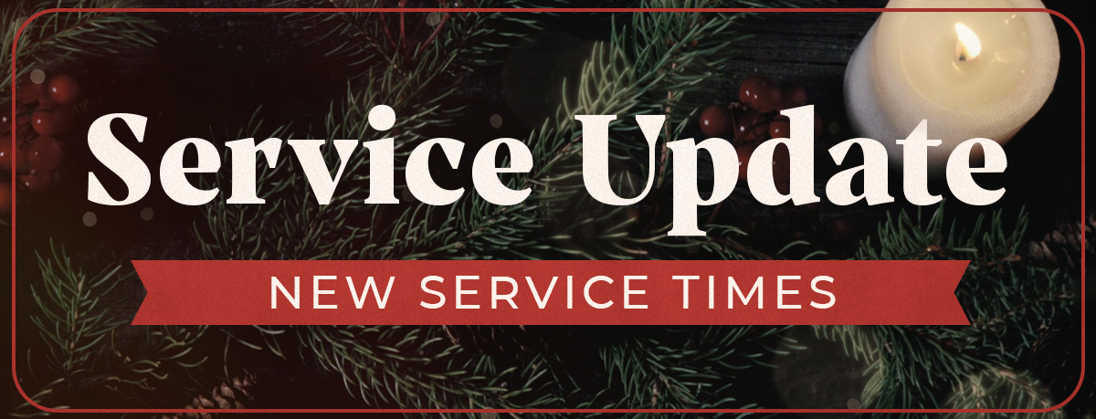 New service times for in-person and online services