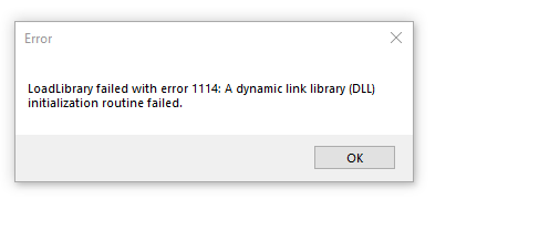 loadlibrary failed