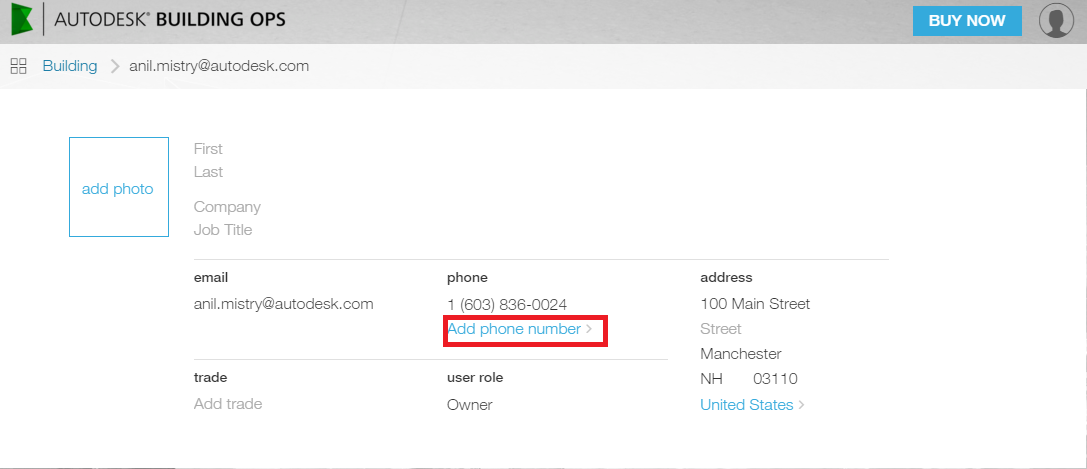 How to Change Location and Mobile Number in the Autodesk Building