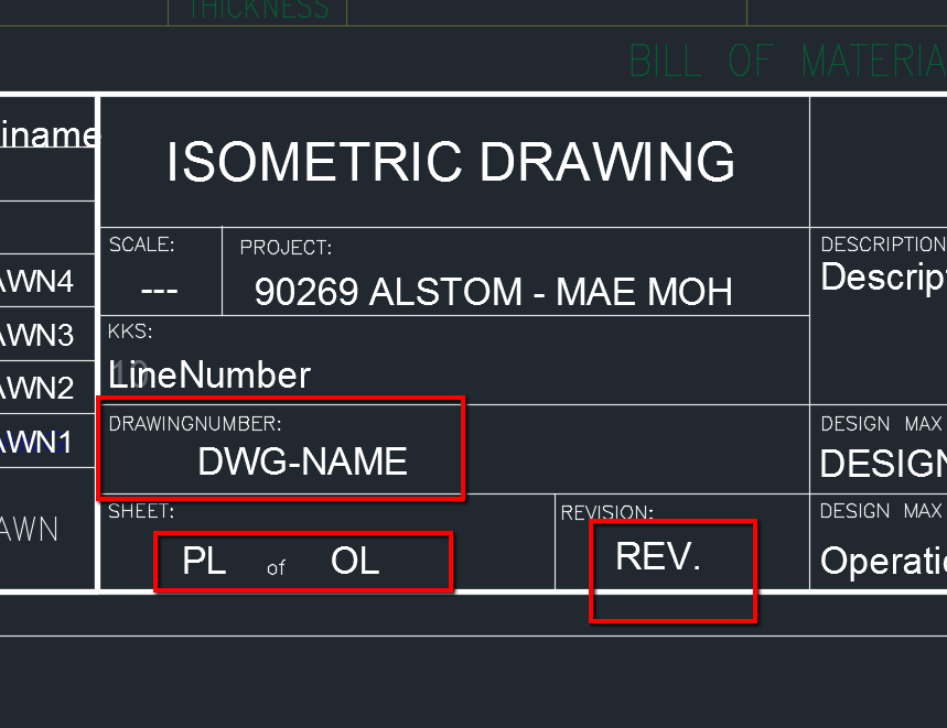 AutoCAD Plant 3D: Attributes won't be filled in title block