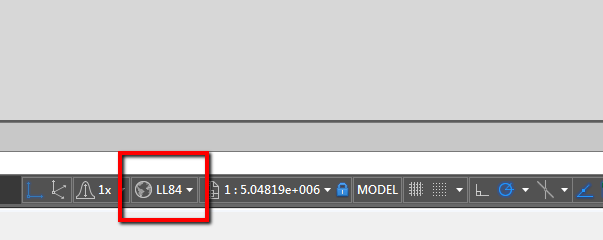 The coordinate system information is not displayed in Civil 3D 2015