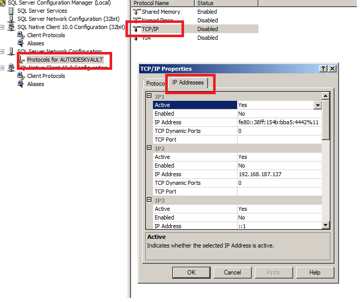 How to configure SQL Server to use a static port | Vault Products