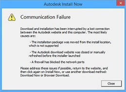 autocad installer encountered error and could not start the netsession client hatası