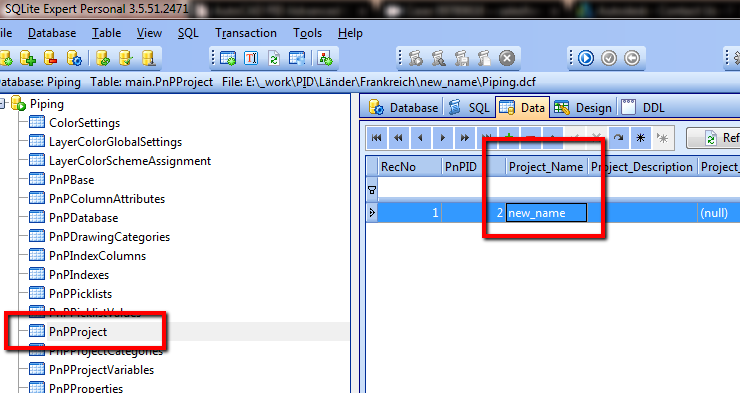 How to rename a project in AutoCAD Plant 3D respectively AutoCAD