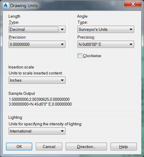 Displaying Angles In Surveyors Units Autocad Autodesk Knowledge