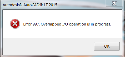 Install Failure: Error 997  Overlapped I/O operation is in progress