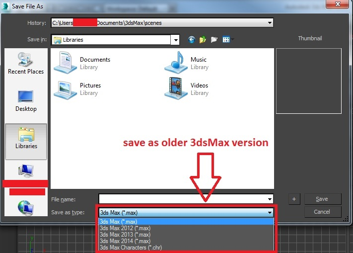 how to save a 3ds max file so it can be opened in an older version