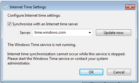 Time mismatch with Server warning when starting an Autodesk