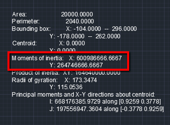 How to calculate the area moment of inertia of a