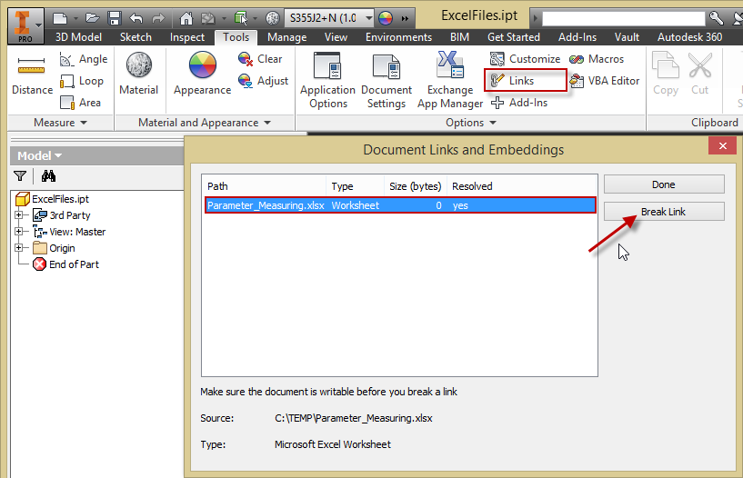 Cannot delete an obsolete excel file from parameters dialog user added image ibookread Read Online