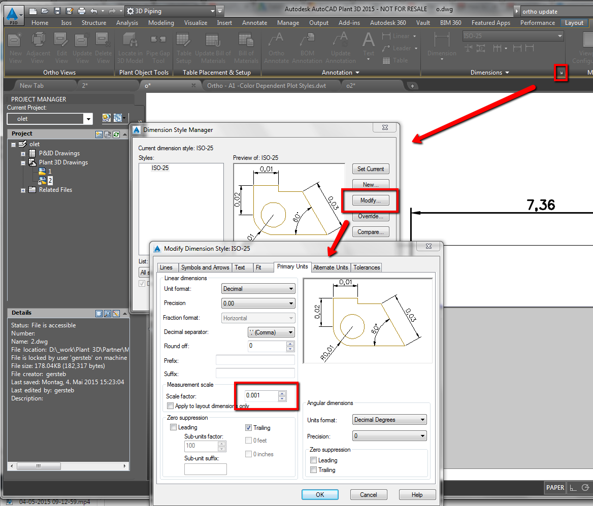 How To Set Up The Dimensions In Meters For Orthographic