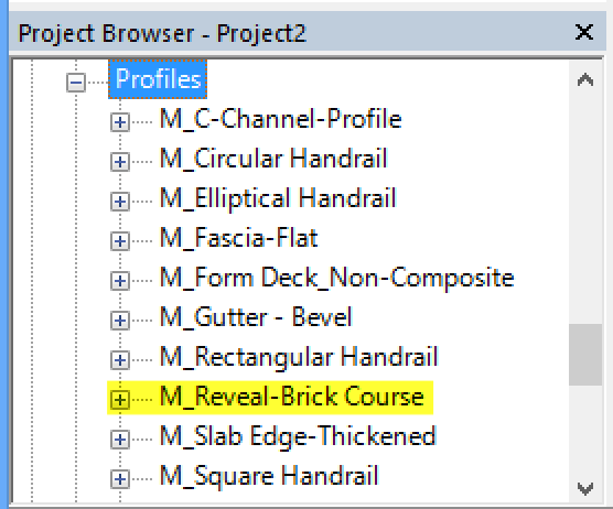 How To Create And Add Custom Wall Reveal Profiles Revit Products