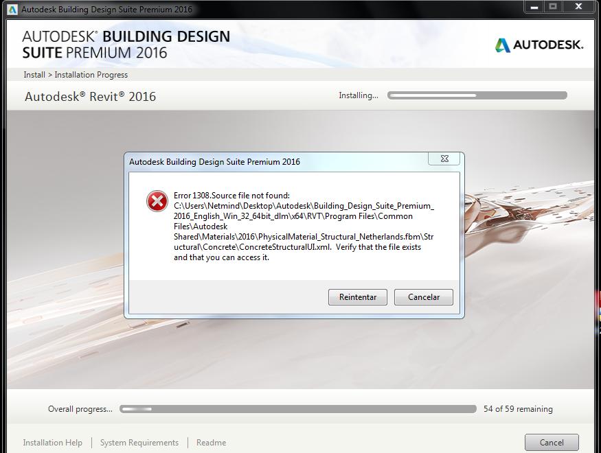 Autocad 2016: error 1308 error with webroot anywhere anti-virus.