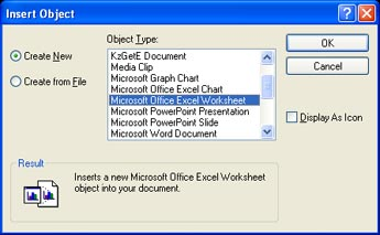Inserting Excel file using OLE | Inventor Products