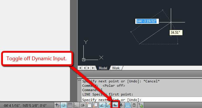 how to enable or disable dynamic input in autocad autocad rh knowledge autodesk com tutorial autocad 2013 español pdf gratis tutorial autocad 2013 español para principiantes