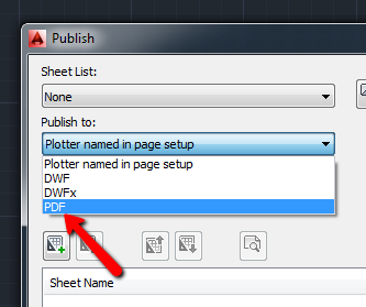 How to publish multiple drawings to PDF in AutoCAD and verticals