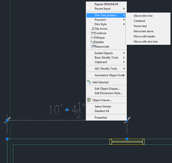 how to adjust the position of dimension text in autocad architecture rh knowledge autodesk com Autodesk AutoCAD Architecture AutoCAD Architecture 2015