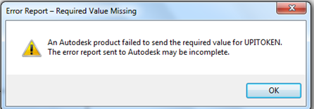 Update view in Vault client fails with: 'An Autodesk product