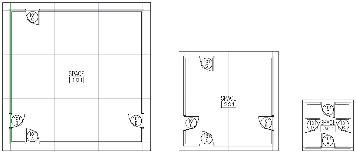 door tags reading from other levels in autocad architecture