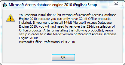 How to install 64-bit microsoft database drivers alongside 32-bit.