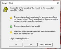 Script Error and Security Alert when launching AutoCAD 2016