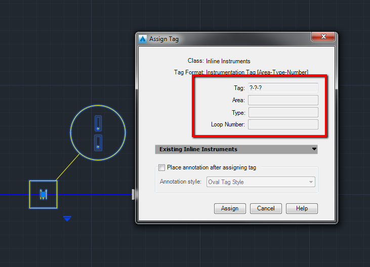 Not Possible To Tag Instruments In The Default Project In Autocad