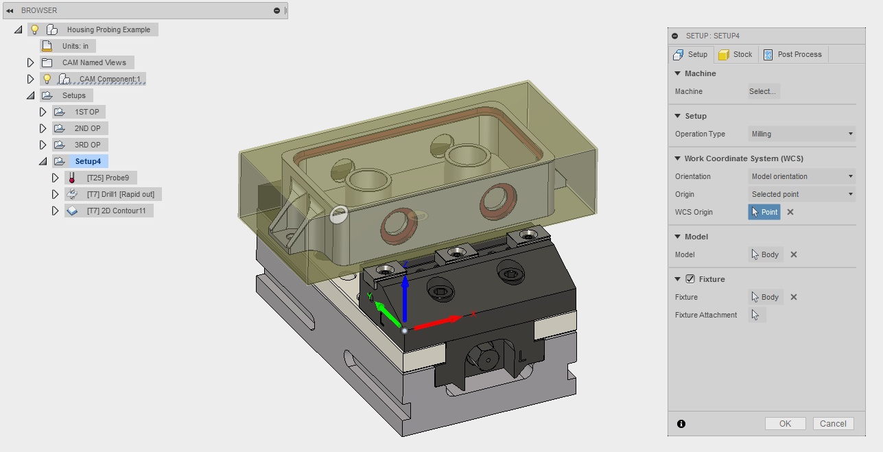 How to probe for a work offset in Fusion 360/HSM CAM