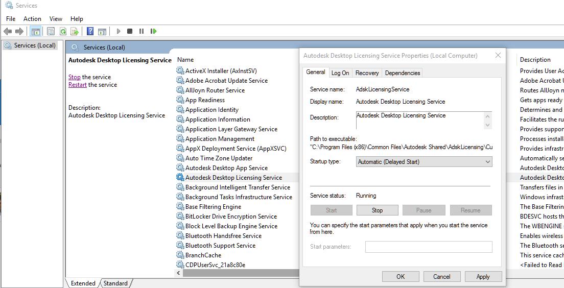 Error 1067 when starting Autodesk Desktop Licensing Service