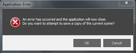 """""""An error has occurred and the application will now close."""" message appears when using the 'Undo' button in 3ds Max"""