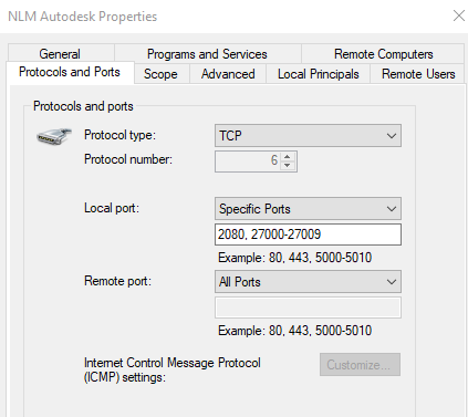 How to set exceptions for Autodesk Network License Manager in