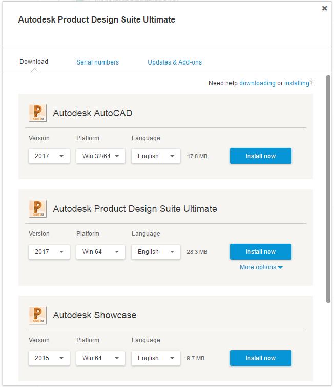 Descarga de software Autodesk Product Design Suite Ultimate 2015
