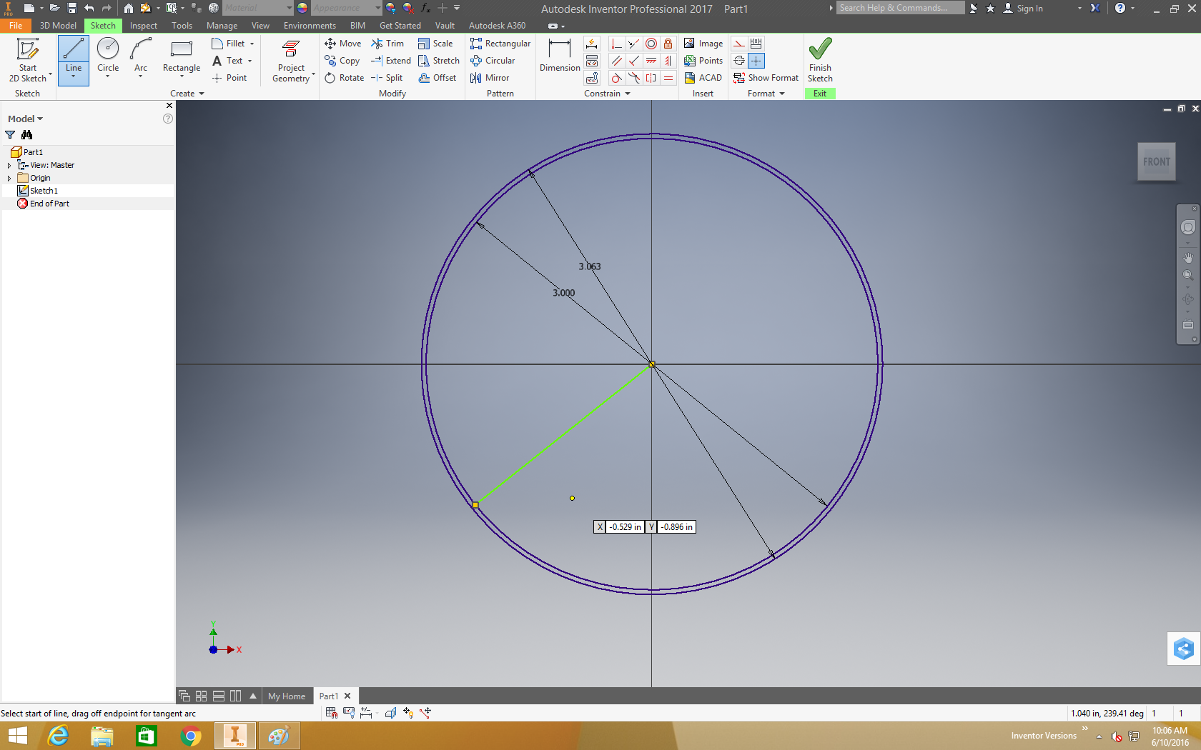 Inventor sketched concentric circles doesnt allow for lines to 1 pooptronica Choice Image