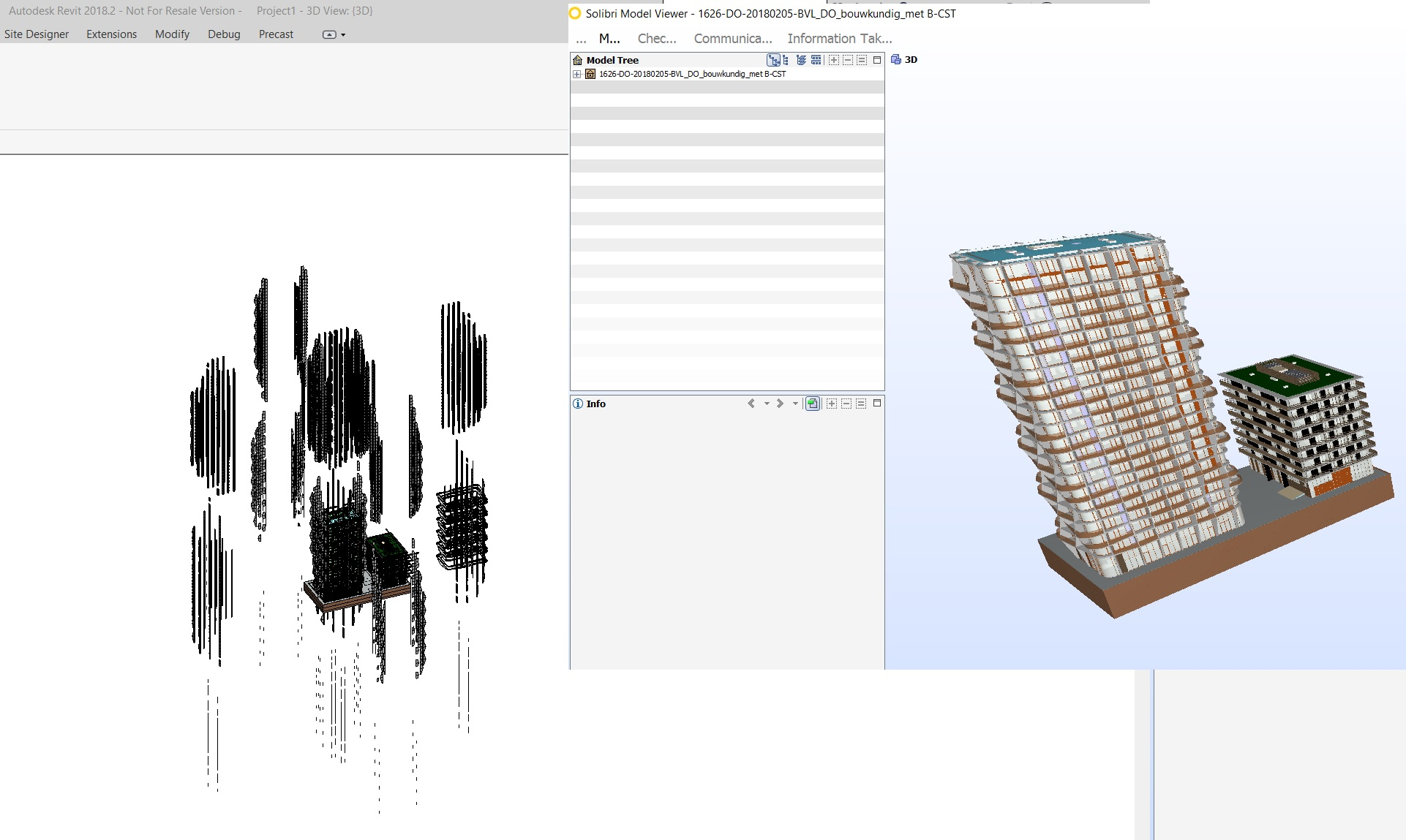 Insert and Open IFc file gives different result in Revit