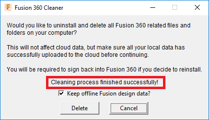 How to perform an automatic clean uninstall of Autodesk Fusion 360