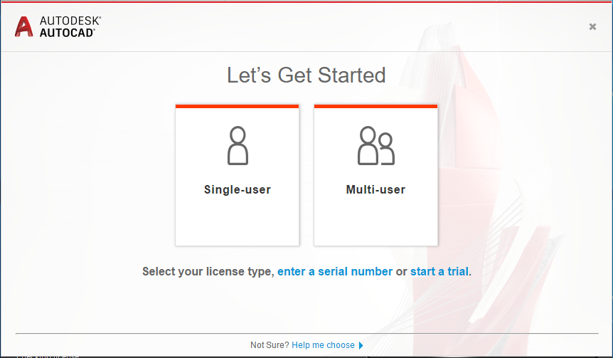 Single-user or Sign In option is missing from the Let's Get ...