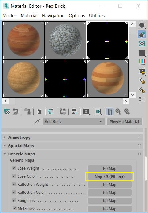Compact Material Editor - Missing Bitmap Nodes