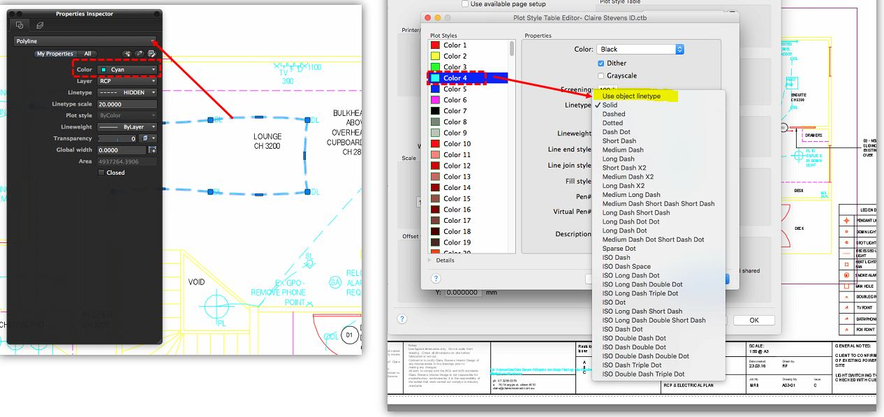 Linetype Not Printing Correctly On AutoCAD For MAC