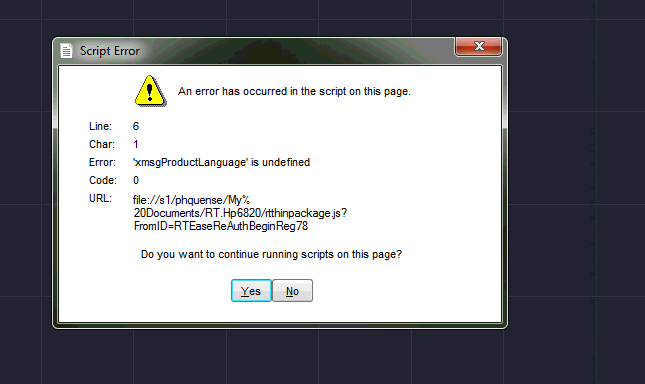 Script error when starting AutoCAD or AutoCAD LT 2017 and