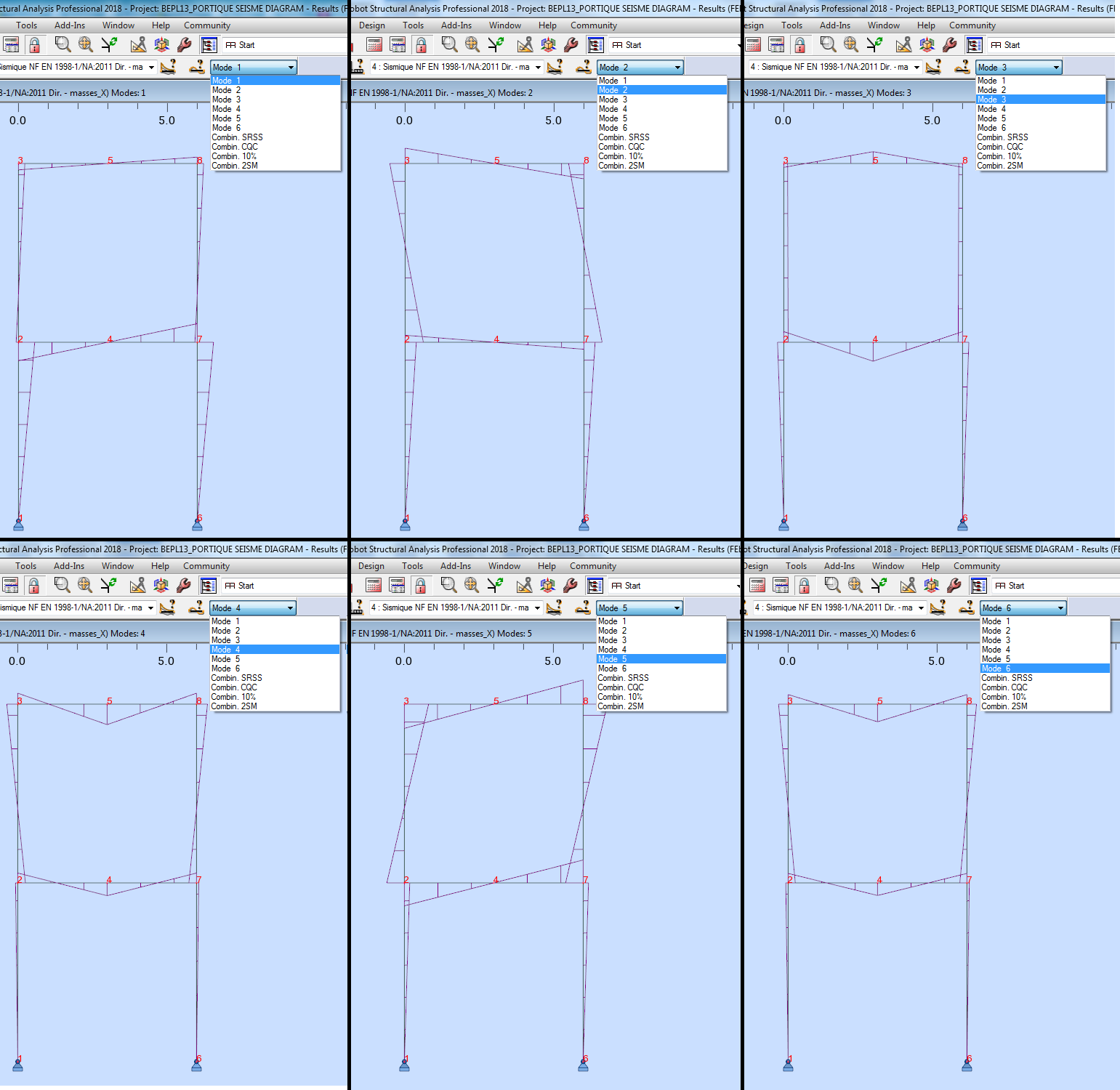 Robot Weird Bending Moment Diagrams For Seismic Load Cases Diagram User Added Image