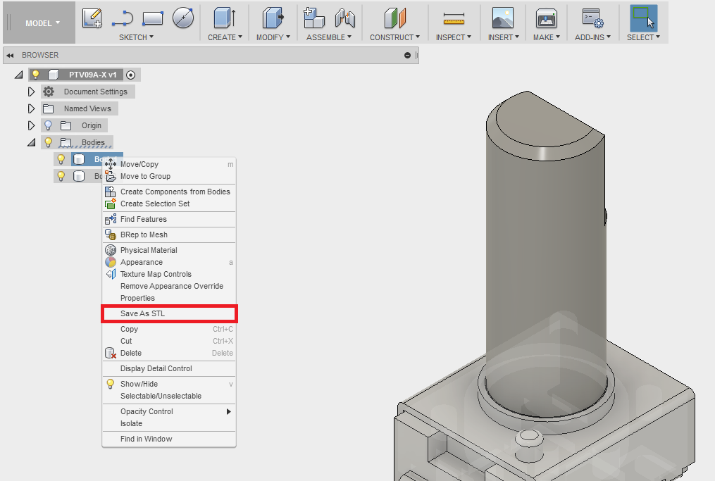 How to export an STL file from Fusion 360 | Fusion 360