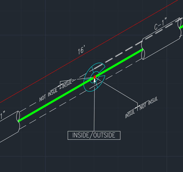 How to draw insulation on autocad