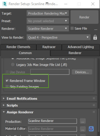 3ds Max: Rendered Frame Window or V-Ray Frame Buffer is missing ...