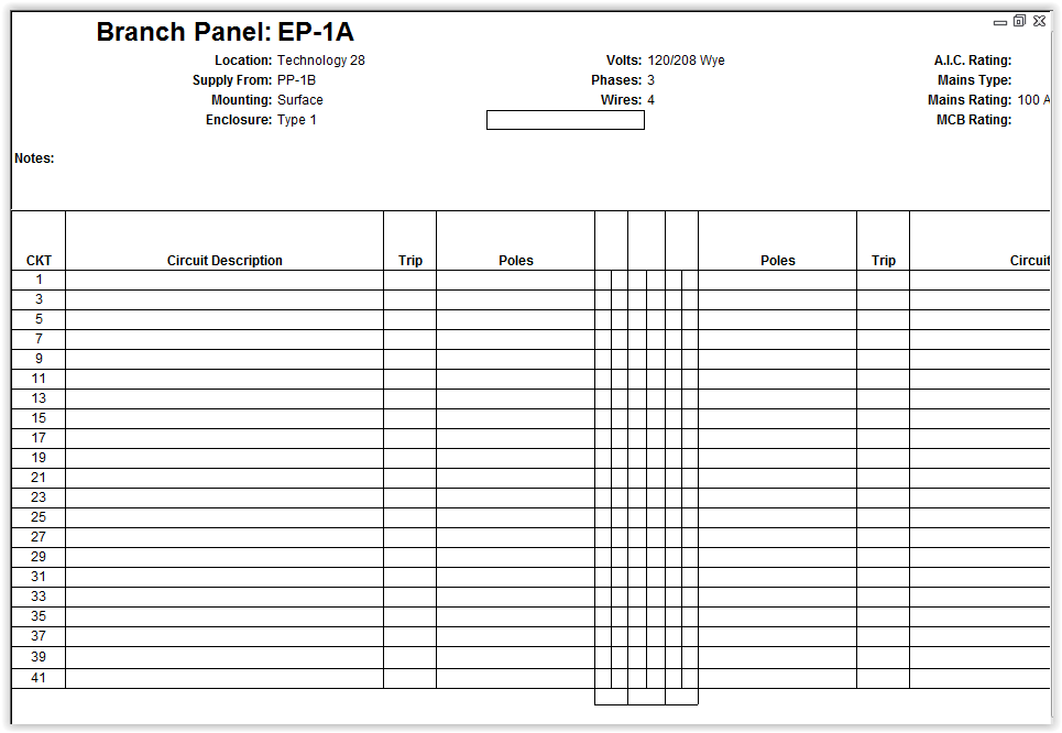 customize revit electrical panel schedule template