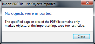 No objects were imported